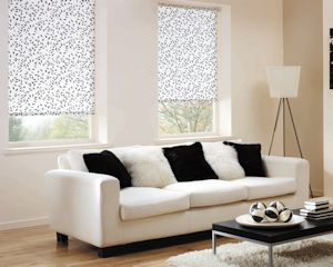 roller blinds in lounge
