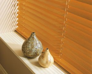 Venetian blinds made from wood