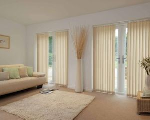 beige coloured blinds